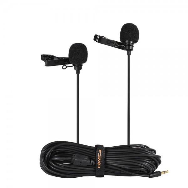 Петличный микрофон Comica CVM-D02R двухг...