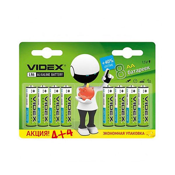 Элемент питания Videx AA (LR6) 8BL