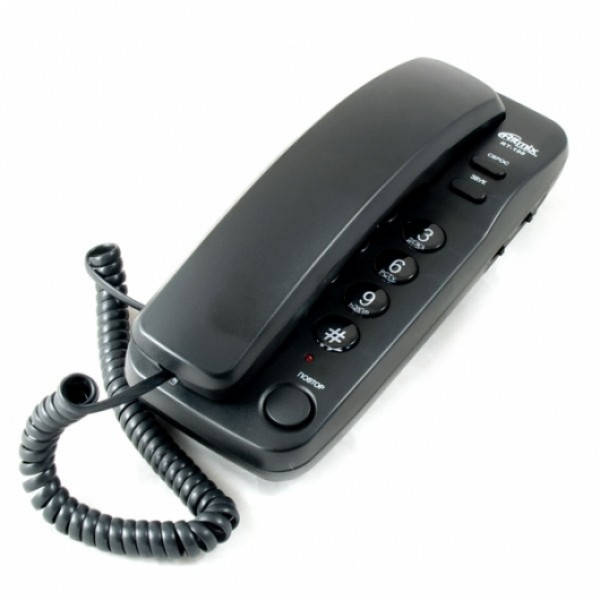 Телефон проводной RITMIX RT-100 черный