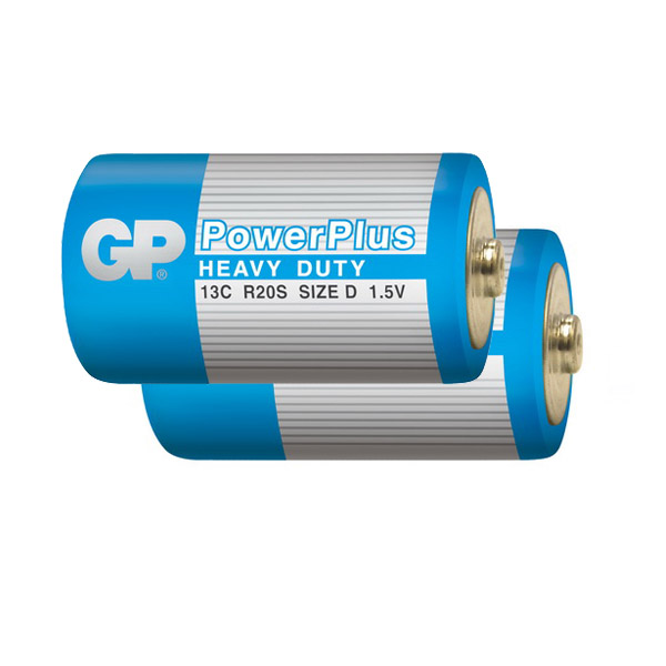 Элемент питания GP D (R20) Power Plus Bl...