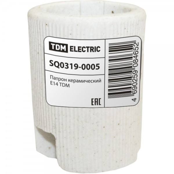 Патрон керамический TDM E14