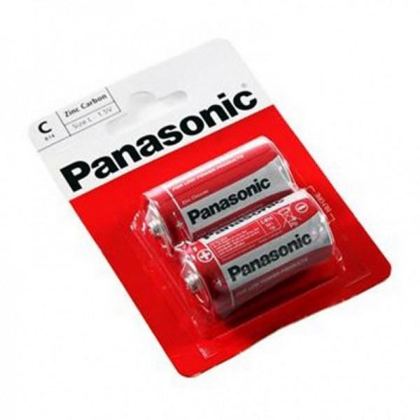 Элемент питания Panasonic C (R14) Red Zi...