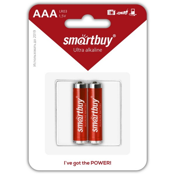 Элемент питания Smartbuy AAA (LR03) BL2