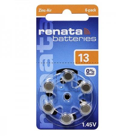 Элемент питания RENATA ZA 13 BL6 (для слуховых аппаратов)