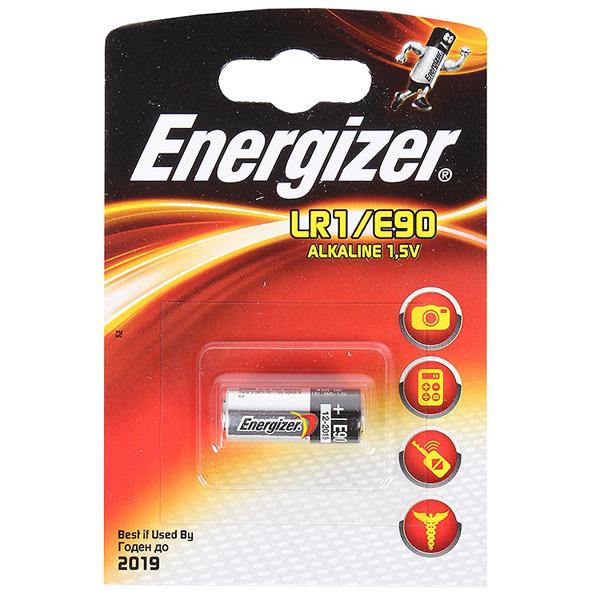 Элемент питания Energizer LR1/E90  BL1