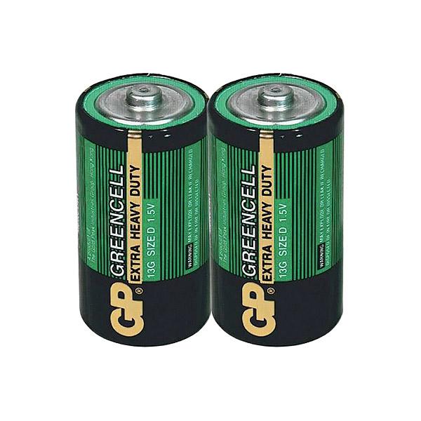 Элемент питания GP D (R20) Greencell (бе...