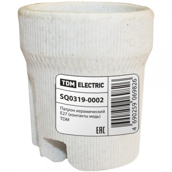 Патрон керамический TDM E27