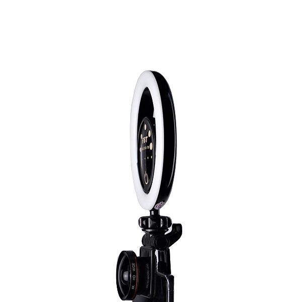 Кольцевая селфи-лампа FST SML-022 (Черна...