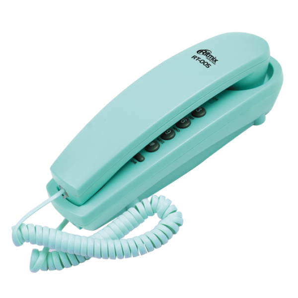 Телефон проводной RITMIX RT-005, синий