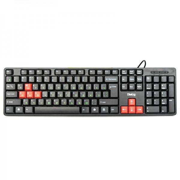 Клавиатура Dialog KS-030U black-red