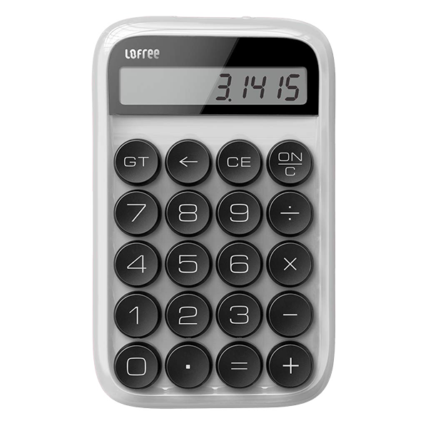 Калькулятор Lofree Digit белый