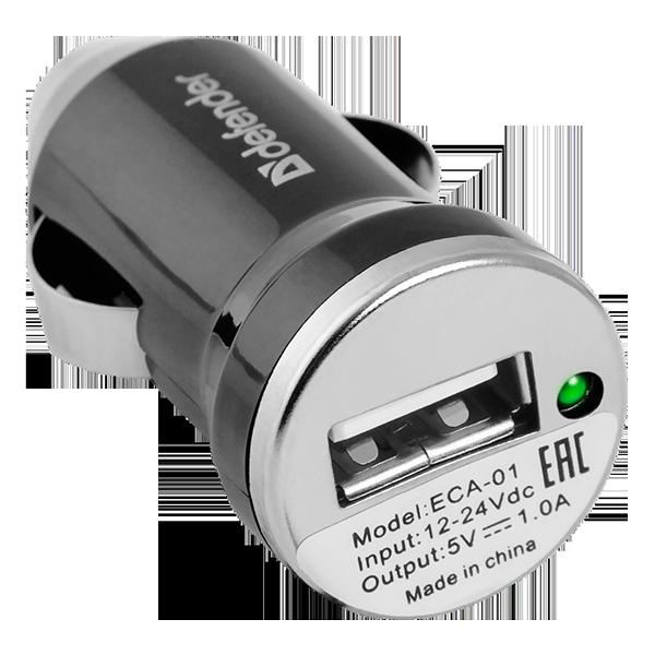 Автомобильный адаптер Defender ECA-01 (1...