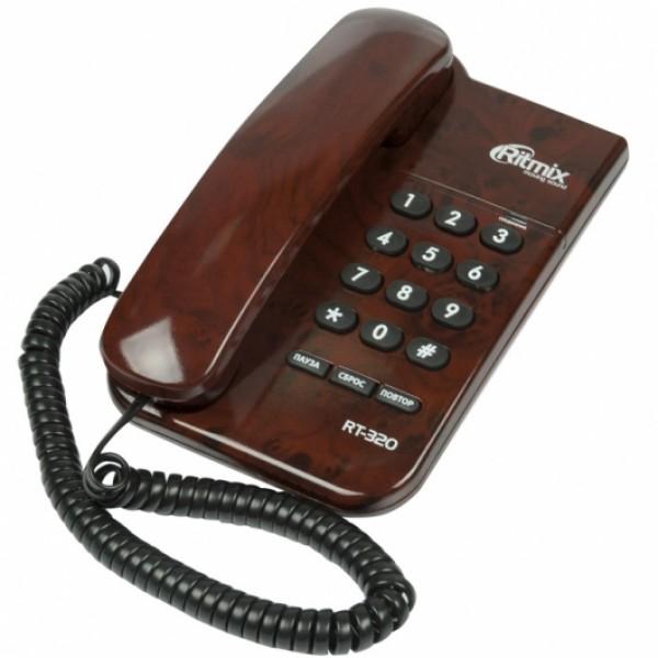 Телефон проводной RITMIX RT-320 мраморны...