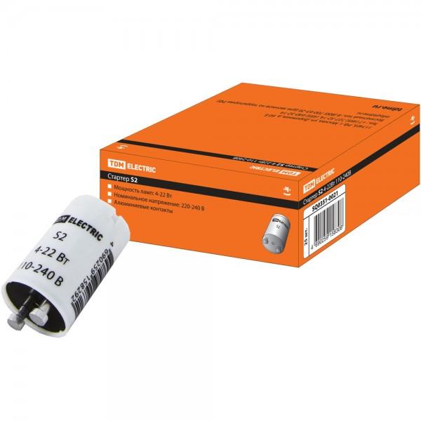 Стартер TDM S2 4-22Вт 110-240В