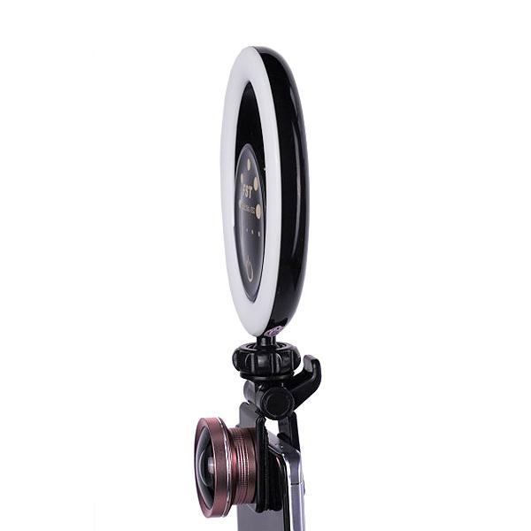 Кольцевая селфи-лампа FST SML-032 RGB (Ч...