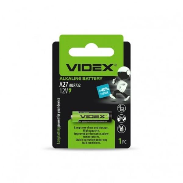 Элементы питания VIDEX A27 1BL (VID-A27-...
