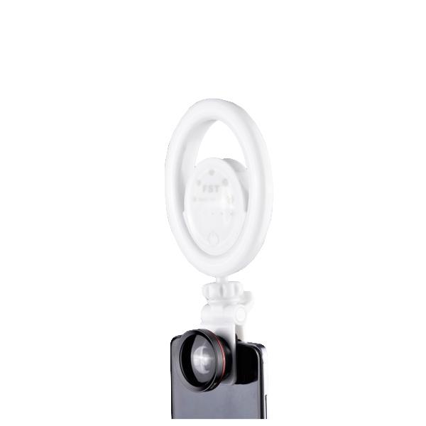 Кольцевая селфи-лампа FST SML-021 (Белая...
