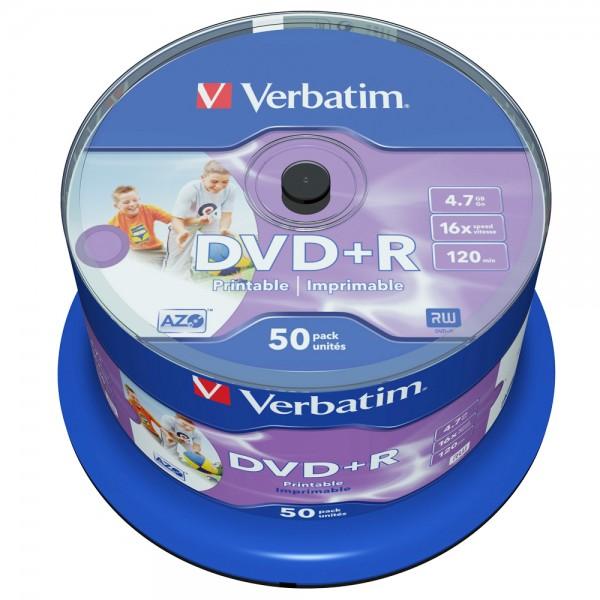 Диск Verbatim DVD+R 4.7 GB 16x, Cake Box...