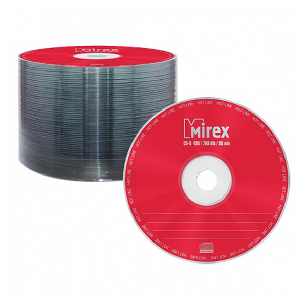 Диск Mirex CD-R 700MB 48x Hotline Shrink...