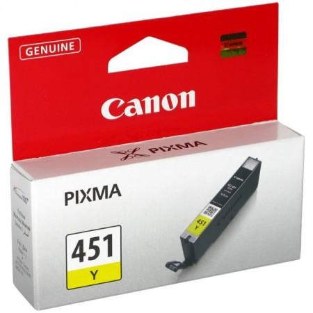 Картридж Canon CLI-451Y для MG6340, MG5440, IP7240 . Жёлтый. 344 страниц. 6526B001