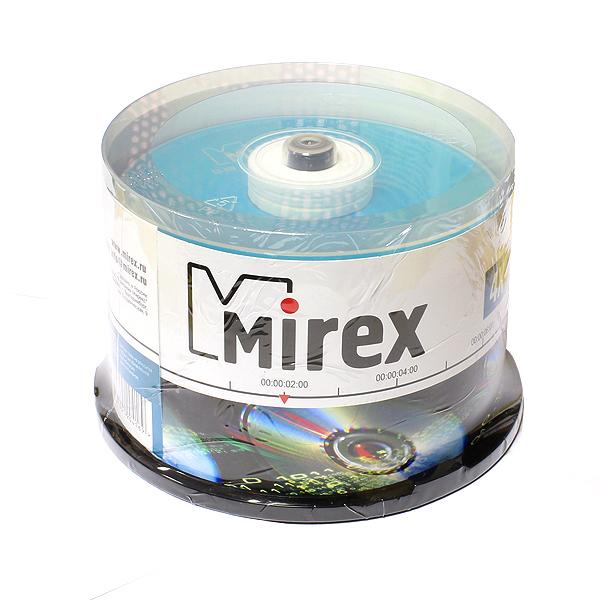 Диск Mirex CD-RW 700MB 12x Cake Box 50шт...