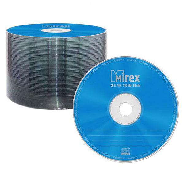 Диск CD-R MIREX 700Mb Standart 48x (UL12...